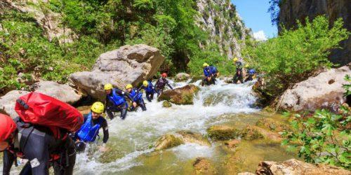 advanced canyoning-Cetina-rivier-Zadvarje-bij-Omiš-Kroatië1